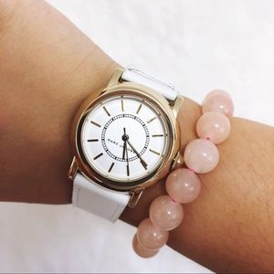 Marc Jacobs White Leather Courtney 3-Hand Watch